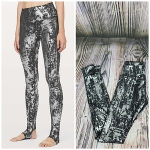 Lululemon Moment to Movement Crinkle Foil Tights